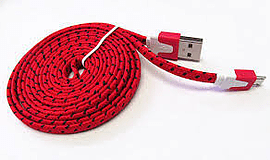 3M FLAT BRAIDED RED Mobile phones