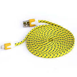 3M FLAT BRAIDED YELLOW Mobile phones