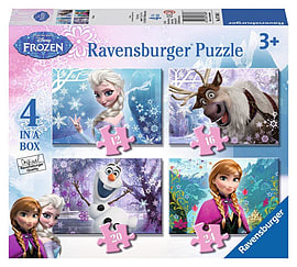Disney Frozen 4 in a Box Jigsaws Traditional Games
