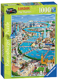 London - The Thames 1000 Piece Traditional Games