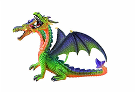 Dragon Double-Headed Green Figurines and Sets