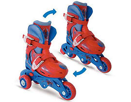 The Amazing Spider-man Evolution Quads To Inline Roller Skates (27-30) (2-in-1) (opsi084) Pre School Toys