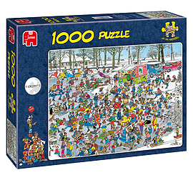 Jan Van Haasteren On Thin Ice Puzzle (1000 Pieces) Traditional Games