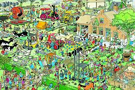 Jan Van Haasteren Farm Visit Puzzle (3000 Pieces) Traditional Games