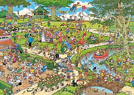Jan Van Haasteren The Park Puzzle (1000 Pieces) Traditional Games