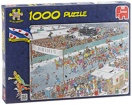 Jan Van Haasteren Eleven City Ice Tour Puzzle (1000 Pieces) Traditional Games