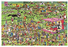 Jan Van Haasteren Ascot Horse Racing Puzzle (1500 Pieces) Traditional Games