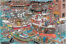 Jan Van Haasteren Crazy Harbour Puzzle (1500 Pieces) Traditional Games