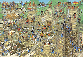 Jan Van Haasteren Castle Conflict Puzzle (2000 Pieces) Traditional Games
