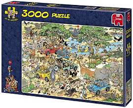 Jan Van Haasteren Safari Puzzle (3000 Pieces) Traditional Games