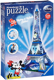 Mickey and Minnie Eiffel Tower Building 3D Puzzle 216pc Traditional Games