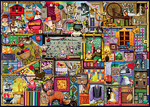 Colin Thompson The Craft Cupboard 1000pc Jigsaw screen shot 1