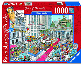 Rio de Janeiro Football Puzzle 1000pc Jigsaw Traditional Games