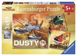 Disney Planes Fire and Rescue 3 x 49-Piece Jigsaws Traditional Games