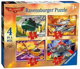 Disney Planes 2 4 in a Box Jigsaws Traditional Games