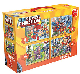 Superfriends 4in1 Standard Suitcase Puzzles Traditional Games
