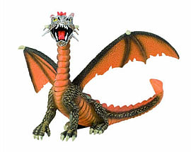 Dragon Sitting Orange Figurines and Sets