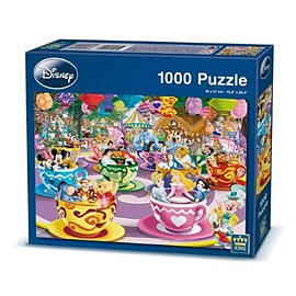 King Disney Mad Tea Cup Puzzle (1000 Pieces) Traditional Games