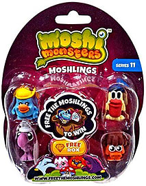 Moshi Monsters Series 11 Blister Pack (One Unit) Figurines and Sets