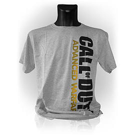 Call Of Duty Advanced Warfare Vertical Logo Large T-shirt, Grey Melange Clothing