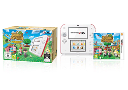Nintendo 2DS Console Red and White Animal Crossing Bundle 3DS