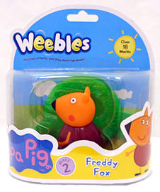 Peppa Pig Weebles Freddy Fox Figurines and Sets