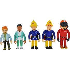 Fireman Sam 5 Figure Pack Figurines and Sets