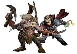 World Of Warcraft Series 8: Gnome Rogue Brink Spannercrank Vs Kobold Miner Snaggle Action Figure Figurines and Sets