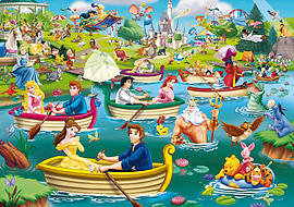 King Disney Fun on The Water Jigsaw Puzzle 1000 Pieces Traditional Games