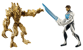 Max Steel Battle Pack Max Steel vs Earth Elementor Figurines and Sets