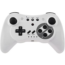 White Classic Pro Wireless Bluetooth Gamepad for Nintendo Wii U Wii U