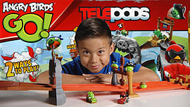 Angry Birds Go! Telepods 6-Wheel Pod Figurines and Sets