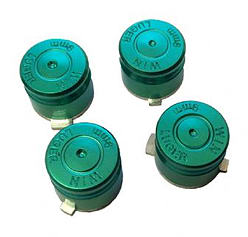GREEN Aluminium Alloy Metal Bullet Buttons for PS4 Controller PS4