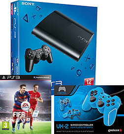 PlayStation 3 12GB Console With FIFA 16 & Blue VX2 Controller PS3