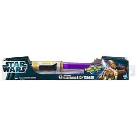 Star Wars Electronic Lightsaber Mace Windu Figurines and Sets