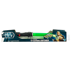 Star Wars Electronic Lightsaber Qui-Gon Jinn Figurines and Sets