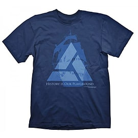 Assassins Creed 4 Distant Lands Extra Large T-shirt, Blue (ge1658xl) Clothing