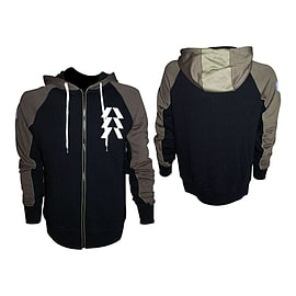 Destiny Hunter Extra Large Full Length Zipper Hoodie With Embroidery, Black/Olive (hd208801des-xl) Clothing