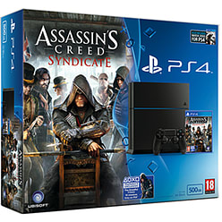 PlayStation 4 500GB Console With Assassin's Creed Syndicate & Watch Dogs PlayStation 4