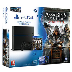 PlayStation 4 1TB Console With Assassin's Creed Syndicate & Watch Dogs PlayStation 4