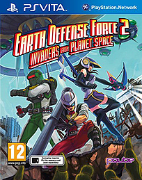 Earth Defense Force 2 : Invaders from Planet Space PS Vita Cover Art