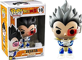 Funko - Figurine Dragon Ball Z - Vegeta Metallic Exclu Pop 10cm Figurines and Sets