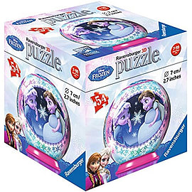 Disney 3D Frozen 54 Piece Puzzle Ball - Elsa and Anna Children Traditional Games