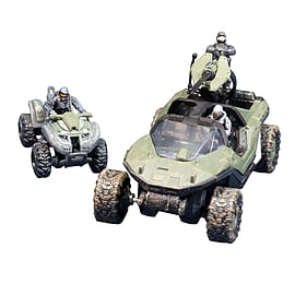 Halo Micro Ops Warthog and Mongoose with Spartans and Trooper Figurines and Sets