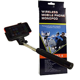Monopod Selfie Stick Telescopic & Bluetooth Wireless Remote Mobile Phone Holder Camera and Photo