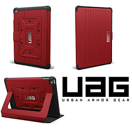 Urban Armor Gear UAG Folio Case & Stand For iPad Air 2 - Red/Black Tablet