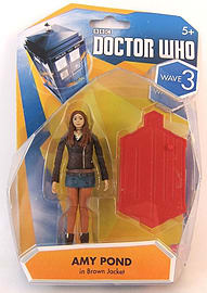 Doctor Who : 9cm Action Figure Wave 3 - AMY POND IN BROWN JACKET Figurines and Sets