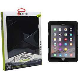 Griffin Survivor Hard Rugged Case for iPad Air 2 - Black Tablet