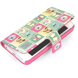 Accessorize Folio Flip Shell Case Cover for iPhone 5/5S - Butterfly Stamp NEW Mobile phones