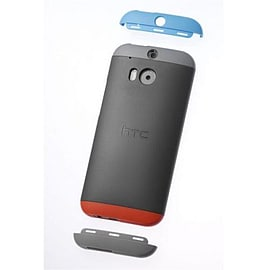 HTC HC C940 Double Dip Hard Shell Case for HTC One (M8) in Grey/Red/Blue Mobile phones